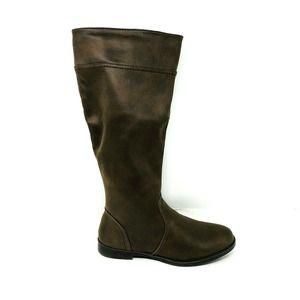 Bella Vita Brown Knee-High Boots 8.5 Extra Wide WW